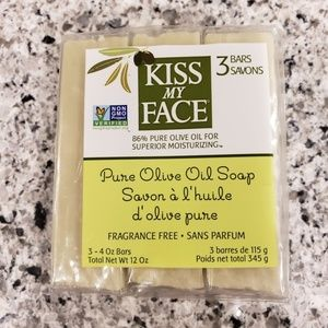 Kiss My Face OLIVE OIL SOAP 3 Pack NEW